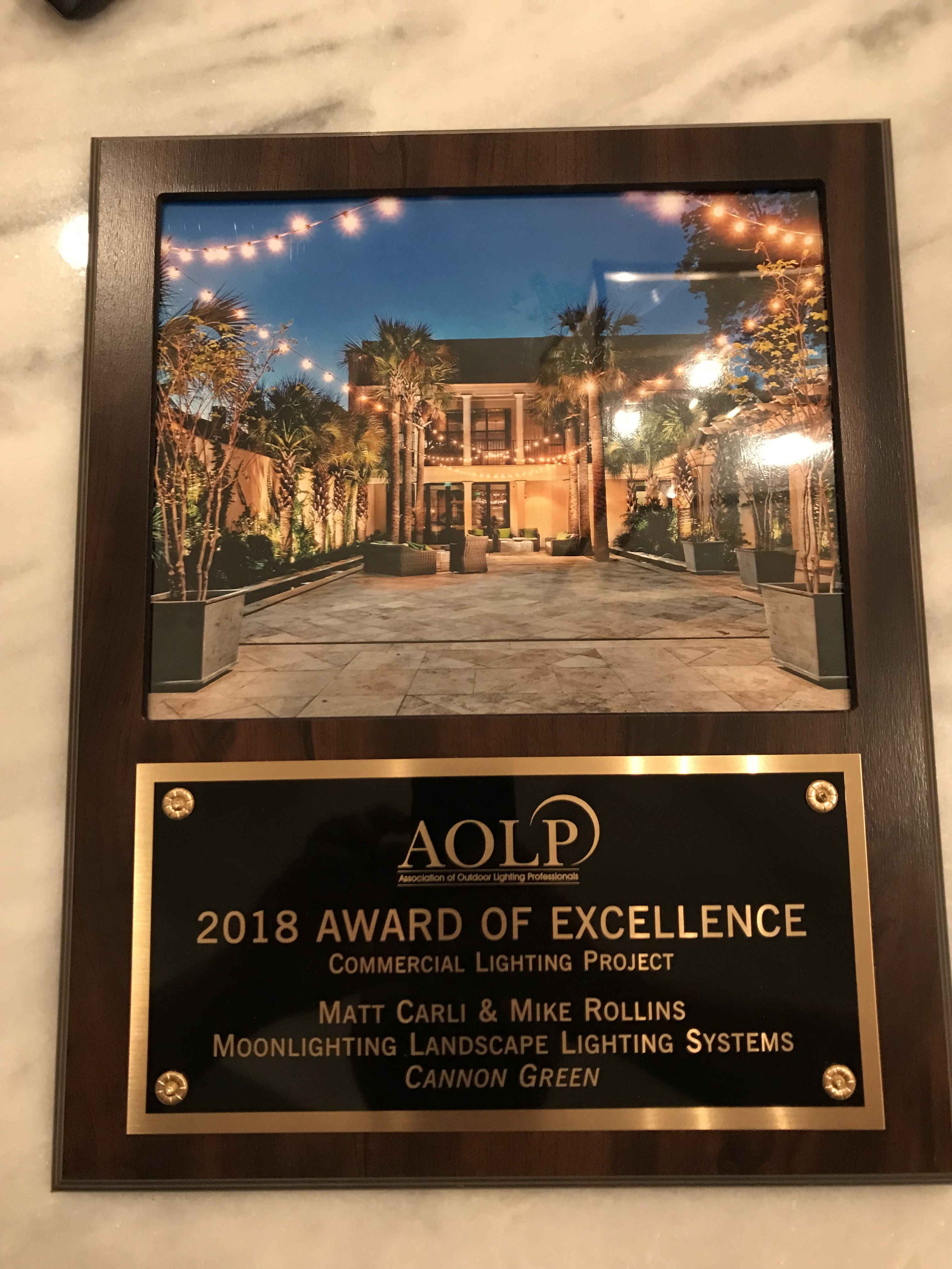 moonlighting wins award of excellence